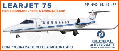Banner Learjet 75 Global 420×180